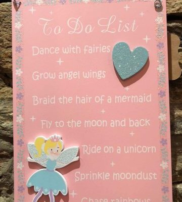 Fairy To Do List Plaque Pink