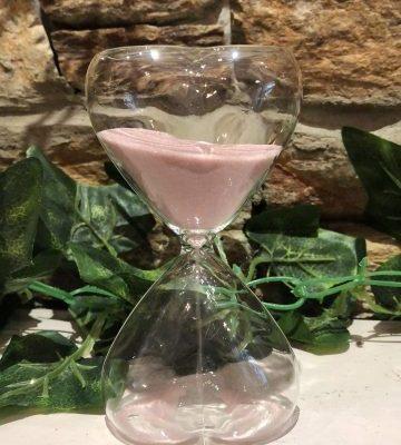 Pink Heart Sand Timer