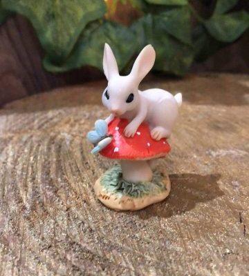 Miniature Bunny on Toadstool