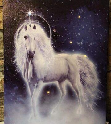 Light up Unicorn Canvas Large
