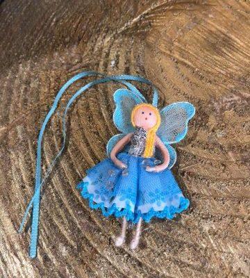 Miniature Wishing Fairy Doll Blue