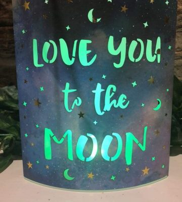 Love You To The Moon Colour Change Lantern