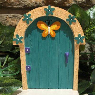Childrens Fairy Door Turquoise