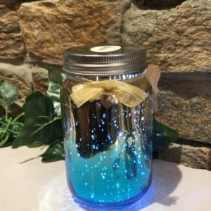 Light Up Two Tone Jar - Blue & Gold