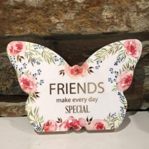 Butterfly Plaque Floral - Friends