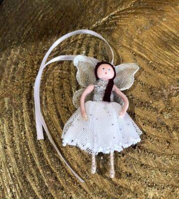 Miniature Wishing Fairy Doll White