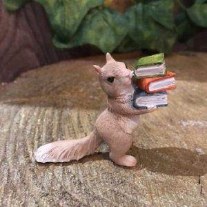 Miniature Squirrel With Books