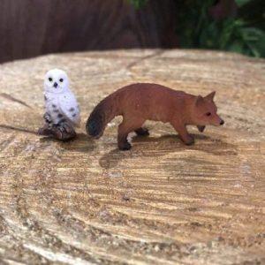 Miniature Fox and Snowy Owl Set
