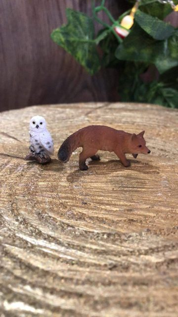 Miniature Fox and Snowy Owl Set