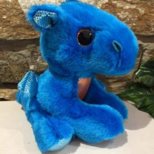 Sparkle Tales Rocket Blue Dragon Plush