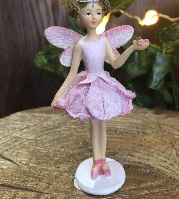 Glitter Pastel Fairy Standing Pink