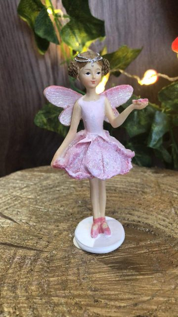 Glitter Pastel Fairy Standing Pink