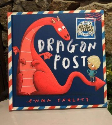 Dragon Post Hardback Book with 5 Letters to Open