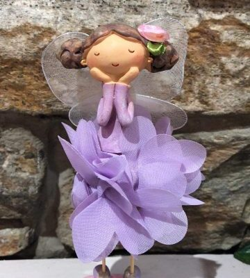 Purple Petal Fairy Pastel Figurine
