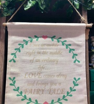Fairy Tale Fabric Hanging Sign