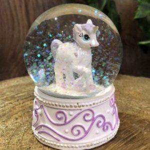Unicorn Snow Globe Purple