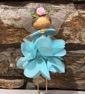 Turquoise Petal Fairy Pastel Figurine