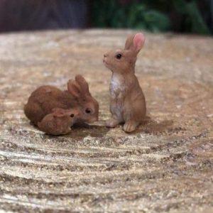 Miniature Bunny Rabbit Family Set