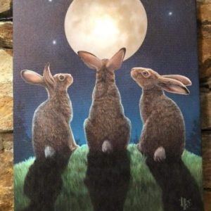 Light of the Moon Hares Canvas