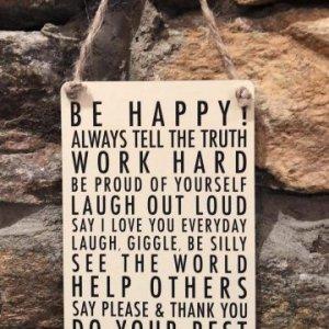 Be Happy Mini Hanger
