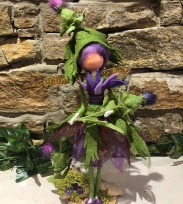 Thistle Beth Handcrafted Scottish Fairy Doll Large