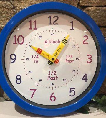 Time Teacher Clock Blue
