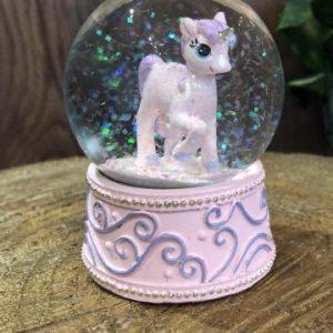 Unicorn Snow Globe Pink
