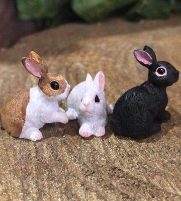 Set of 3 Miniature Bunny Rabbits