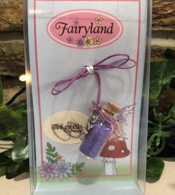 Fairy Dust Necklace with Charm - Purple