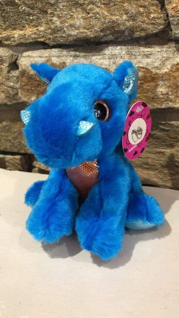 Sparkle Tales Rocket Blue Dragon Plush