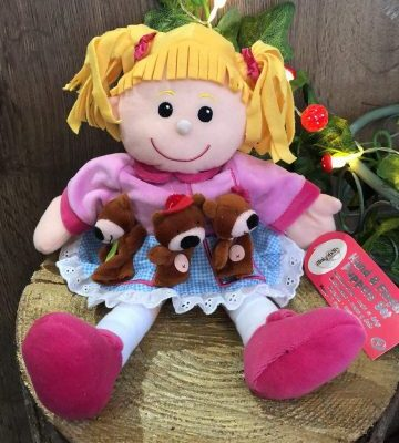 Goldilocks and the 3 Bears Hand and Finger Puppet Set