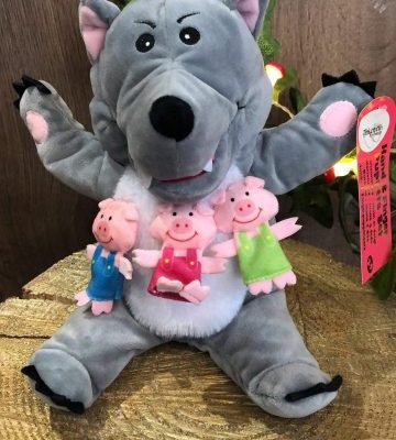 The Big Bad Wolf and 3 Pigs Hand and Finger Puppet Set
