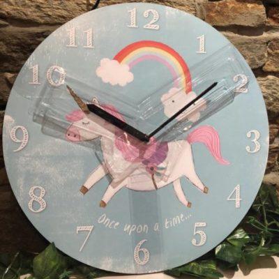 Unicorn Rainbow Clock