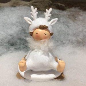 Snow Children Sparkling Ornament