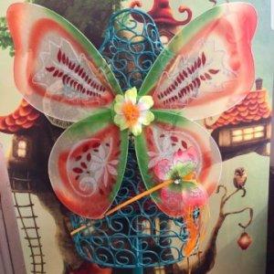 Woodland Orange Wings and Wand Set