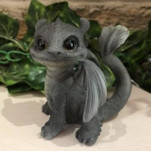 Black Winged Dragon Figurine