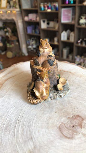 Squirrel Feast on Log