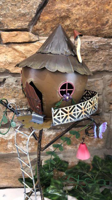 Acorn Stilt Metal Fairy House