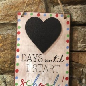Days Until I Start School Chalkboard Countdown