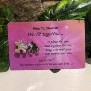 Pins To Cherish - We Fit Together Jigsaw Pair