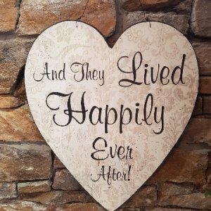 Happily Ever After Hanging Sign
